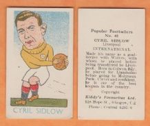 Wales Cyril Sidlow Liverpool